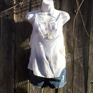 NEW DECREE White Top ARIZONA jean Short Outfit 9
